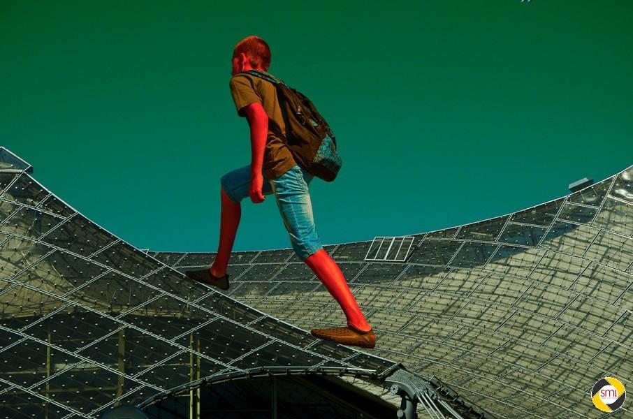 Auf's Dach steigen / Olympiastadion München © Anna Milkova