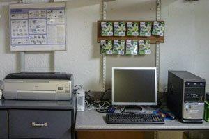 Arbeitsplatz im Atelier