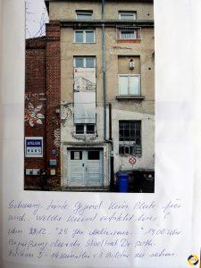 Eintrag im Projektbuch © Christa Gschwentner