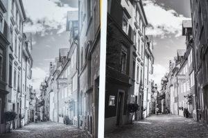 Vergleich verschiedener Fotodruck-Ergebnisse im Workshop mit Dethlof Erhardt