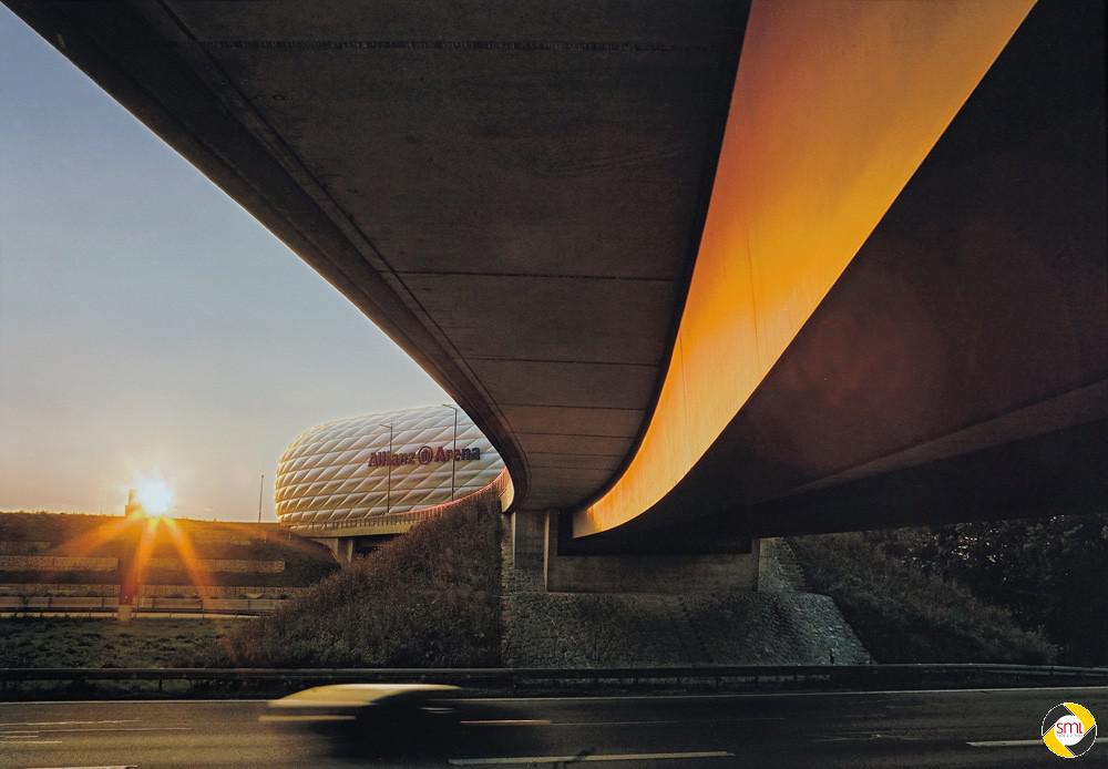 Sonnenuntergang an der Allianz Arena © Richard Mayer